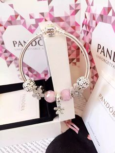 50% OFF!!! $199 Pandora Charm Bracelet Pink. Hot Sale!!! SKU: CB01849 - PANDORA Bracelet Ideas