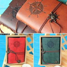 Pirate Design Leather Cover Notebook Blank Diary  Stationery For Travel Gift #Unbranded