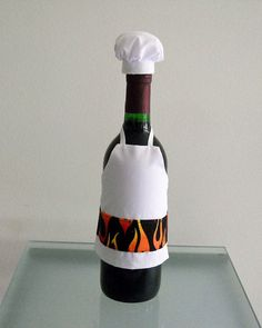 Wine Bottle Or Liquor Bottle Cover  BBQ Chef Wine by KMSORIGINAL, $15.00