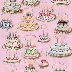 Are you looking for ideas for happy birthday?Check out the post right here for perfect happy birthday inspiration.May the this special day bring you happiness. Print Wrapping Paper, Vintage Wrapping Paper, Vintage Paper, Retro Vintage, Gift Wrapping, Wrapping Papers, Vintage Birthday Cakes, Happy Birthday Cakes, It's Your Birthday