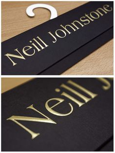 A fabric header card for Neill Johnstone.