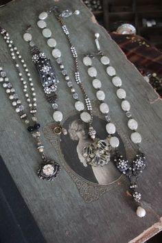 Vintage Flair Altered Necklaces ~ vintageflair.typepad.com