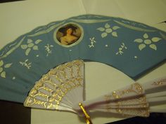 18th c. fan tutorial - love this! I have an antique fan base, but didn't know the best way to replace the fan..