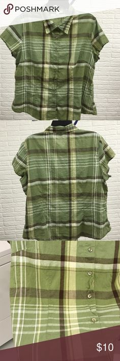 Selling this Short sleeve Button blouse size XL, St. John's Bay in my Poshmark closet! My username is: lsmouz. #shopmycloset #poshmark #fashion #shopping #style #forsale #St. John's Bay #Tops