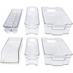 Storagemaid Refrigerator Organizer Bins - Stackable Storage Containers (N/A - Food Storage - Acrylic), Clear Do It Yourself Organization, Freezer Organization, Refrigerator Organization, Kitchen Organization Pantry, Refrigerator Freezer, Kitchen Storage, Organization Ideas, Kitchen Pantry, Medicine Organization