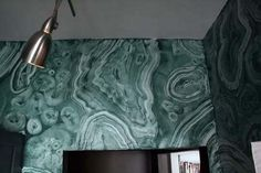Faux Malachite Walls /Apartment Therapy-Mark Chamberlain, interior and decorative painter