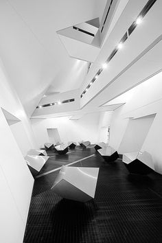 """Futuristic Building, """"Inner Space III"""" by Roland Shainidze, Futuristic Interior Futuristic Interior, Futuristic Architecture, Amazing Architecture, Architecture Details, Modern Interior, Interior Architecture, Interior And Exterior, Interior Office, Building Architecture"""