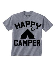 Another great find on #zulily! Gray 'Happy Camper' Tee - Toddler & Kids #zulilyfinds