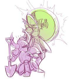 Shovel Knight & Shield Knight