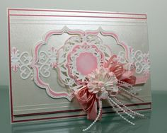 John Next Door: Decorative Champagne. Heartfelt Creations Cards, Spellbinders Cards, Die Cut Cards, Stamping Up, How To Make Bows, Flower Cards, Cardmaking, Birthday Cards, Champagne