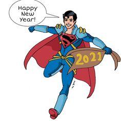 Superboy Prime, Happy Year, Comics Universe, Donald Duck, Dc Comics, Disney Characters, Fictional Characters, Happy New Year, Fantasy Characters