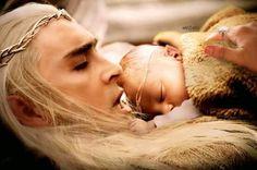 Thranduil y Legolas, adorables