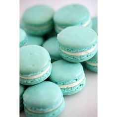 I would want this blue and also some in Mint ... | Wedding Food/drink found on Polyvore