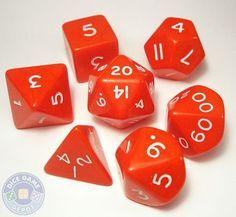 Jumbo 28mm RPG Dice Set - Opaque Red