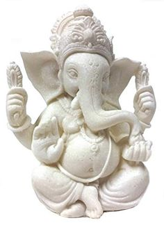 1 the Blessing Statue of Lord Ganesh Ganpati Elephant Hindu God Made From Marble Powder in India *** Details can be found by clicking on the image. Clay Ganesha, Ganesha Art, Lord Ganesha, Ganesha Drawing, Ganesha Painting, Sculpture Projects, Sculpture Clay, Sculptures, Eco Friendly Ganesha