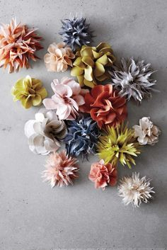 Flax and Twin-Pansy and Dahlia Fabric Flower Tutorial