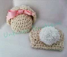 Free Crochet Pattern - Girly Bunny Hat and Diaper Set ༺✿ƬⱤღ  http://www.pinterest.com/teretegui/✿༻