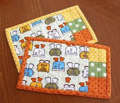 SALE  Happy Toasters Quilted Mug Rug Coasters by sewmuch2luv, $12.00
