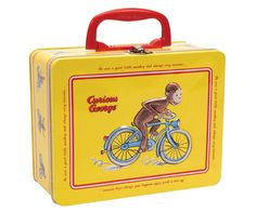 Little ones will love toting meals to day camp or storing their favorite things in this keepsake lunch box. A clasp closure ensures that contents stay safe. Dorm Room Accessories, Curious George Party, Yellow Animals, Little Monkeys, Kids Boxing, Movie Characters, Keepsake Boxes, Cleaning Wipes, Action Figures