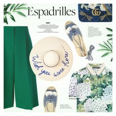 Step into Summer: Espadrilles by redflowergirl on Polyvore featuring polyvore, fashion, style, Dolce&Gabbana, Valentino, Soludos, Gucci, Eugenia Kim, StyleNanda, clothing and espadrilles