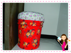 Recicle sua Casa: Puff Decorado Reciclando Balde de Tinta