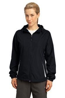 New Trending Outerwear: Sport-Tek Womens Colorblock Hooded Raglan Jacket M Black/White. Sport-Tek Women's Colorblock Hooded Raglan Jacket M Black/White  Special Offer: Too low to display  444 Reviews Style #: LST76 With a drawcord hood and enduring athletic style this jacket is perfect for outdoor sports or everyday excursions. 100% polyester shell 100% polyester...