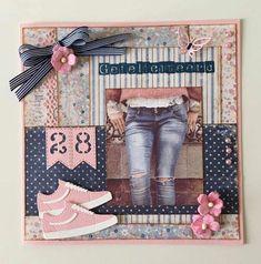 Girl Birthday Cards, Scrapbooking, Jeans, Design, Paper, Crafting, Scrapbooks, Memory Books, Scrapbook