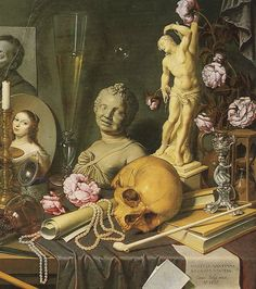Bailly, David: Self-Portrait with Vanitas Symbols 1651