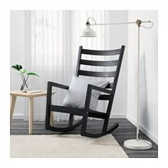 IKEA - ВЭРМДЭ, Кресло-качалка, д/дома/улицы, , Пластиковые накладки на кресло защищают пол от царапин и повреждений.