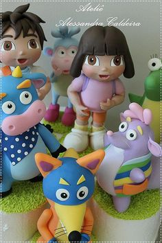 Dora Aventureira! by Alessandra Caldeira Biscuit, via Flickr