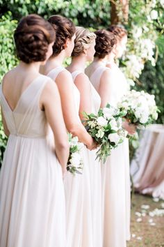 featured photographer: Hunter Ryan Photo; bridesmaid dress and hairstyle idea