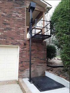 Ramp Stairs, Garage Lift, House Lift, Elevator Design, Wheelchair Ramp, Stage Set Design, Lift Design, Steel Columns, Front Gates