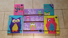 Owls in the bathroom