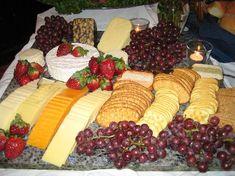 Gourmet Fruit And Cheese Platters   Gourmet Cheese and Fruit Hor'deurves on Granite