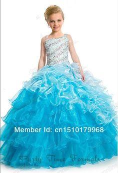 Vestido de festa vestido de baile vestidos menina Organza cetim vestido de menina de casamento Pageant vestidos de festa de casamento em Vestidos de Dama de Honra de Casamentos e Eventos no AliExpress.com | Alibaba Group