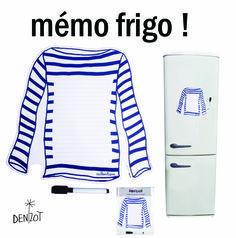 Marinière par MP Denizot pour Fox Trot ! Mémo frigo .