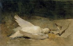 "EMIL CARLSEN, Still Life with Swan,  Watercolor and Gouache 17 3/4"" x 28"""