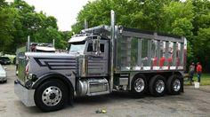 Big Rig Trucks, Tow Truck, Semi Trucks, Old Trucks, Peterbilt Dump Trucks, Custom Peterbilt, Custom Big Rigs, Custom Trucks, Car Dump