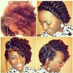 Natural hair style.