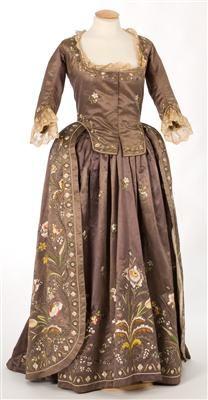 Robe a la Piemontaise, ca. 1770-1790, IMITEX register number 7250