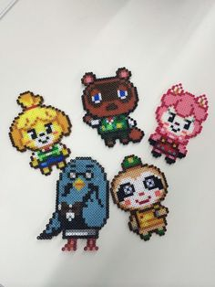 Animal Crossing: New Leaf hama beads Melty Bead Patterns, Pearler Bead Patterns, Perler Patterns, Beading Patterns, Perler Bead Designs, Hama Beads Design, Perler Beads, Fuse Beads, Animal Crossing