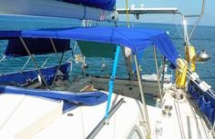 Careful planning needs to go into the design of boat biminis. Sailboat versions particularly so, as headsail sheets, winches, mainsheet and the backstay must all be avoided.