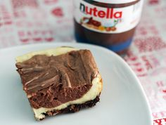 nutella cheesecake squares...