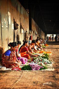 Flower Sellers, India, www.marmaladetoast.co.za #travel find us on facebook www.Facebook.com/MarmaladeToastSA