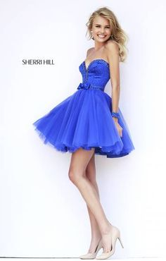 42c4499ed7 Sherri Hill Spring 2015 Short Strapless Prom Dresses