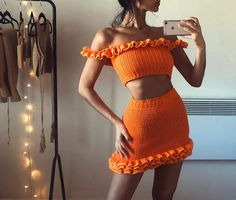 Твиттер Crochet Halter Tops, Crochet Crop Top, Crochet Bikini, Moda Crochet, Cute Crochet, Crotchet, Crochet Clothes, Diy Clothes, Crochet Outfits