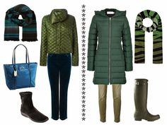 Chic Sightings: A Mixture of Greens - clearly winter clothing but I love the mix of greens with neutrals, very wearable for my life.