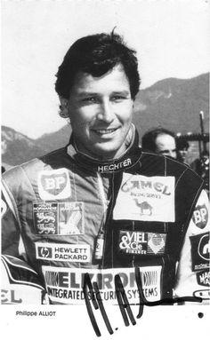 Autograph:Philippe Alliot,Formula One driver.