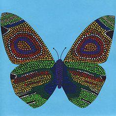 Dot-Painting - Schmetterling
