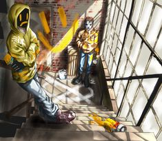 """All I can think about when I see this is songs that talk about """"painting the town"""" :) Fan Masky Hoody by Ashiva-K-I on deviantART"""
